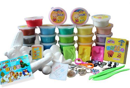 美阳阳超轻粘土 3d彩泥玩具 橡皮泥无毒正品 24色套装太空泥 送书